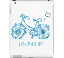 Hipster bicycle - blue iPad Case/Skin