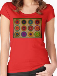 Colourful canvas Women's Fitted Scoop T-Shirt