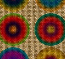 Colourful canvas Sticker