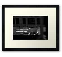 Zed is for Zegna - Sydney - Australia Framed Print