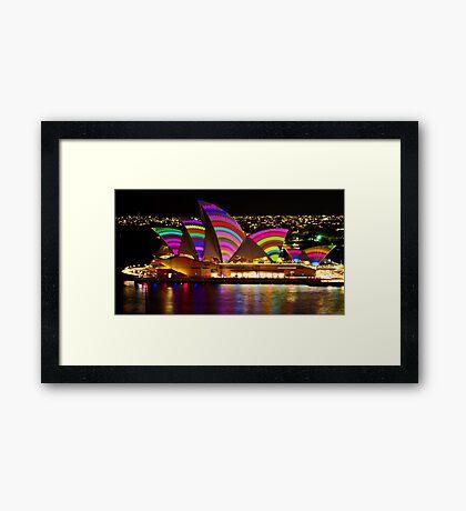 Crochet Sails - Sydney Vivid Festival - Sydney Opera House Framed Print