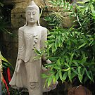 Statue in Tropical Garden by Gloria Abbey