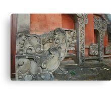 bali stonework Canvas Print