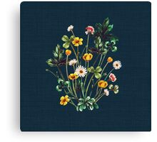 MeadowSweet Autumn on Rustic Blue Canvas Print