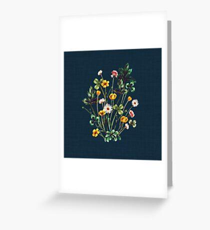 MeadowSweet Autumn on Rustic Blue Greeting Card