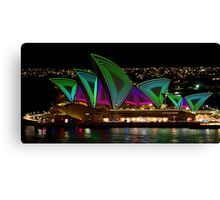 Time Tunnel Sails - Sydney Vivid Festival - Sydney Opera House Canvas Print