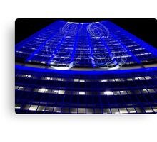 Curled Up & Blue - Vivid Festival - Sydney Canvas Print