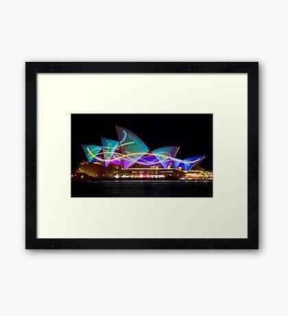 Sail Streamers - Sydney Vivid Festival - Sydney Opera House Framed Print