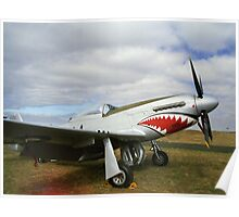 Flying Shark - P.51D Mustang - Downunder Airshow,  Victoria Poster