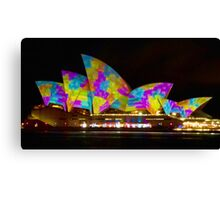 Dress Sails - Sydney Vivid Festival - Sydney Opera House Canvas Print