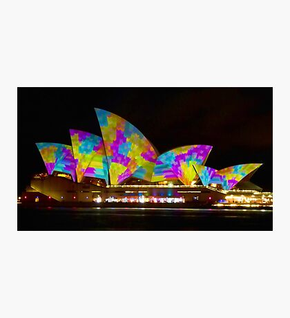 Dress Sails - Sydney Vivid Festival - Sydney Opera House Photographic Print