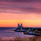 Sunrise over reculver by Richard Majlinder