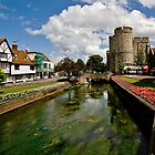 Westgate, medieval gatehouse in Canterbury, Kent by Richard Majlinder