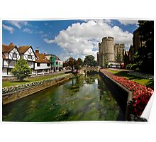 Westgate, medieval gatehouse in Canterbury, Kent Poster