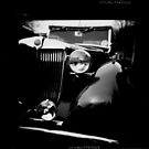 Vintage car on film by Angela Ward-Brown
