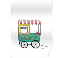 Vintage Circus Popcorn Cart Poster