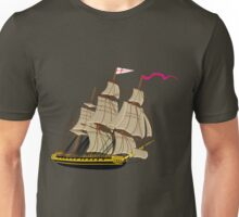 HMS Boreas, captain Horatio Nelson, in Stormy Weather Unisex T-Shirt