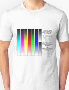 Redbubble printer color test Unisex T-Shirt