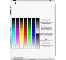 Redbubble printer color test iPad Case/Skin