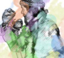 Jim Henson and Kermit - Colour splash Sticker