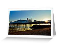 Brighton Pier Sunset - England Greeting Card