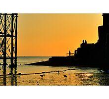Sunset Silhouette - Brighton - England Photographic Print
