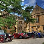 Pre-war cars at Mansfield College by Derek Green