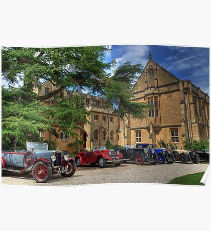 Pre-war cars at Mansfield College Poster