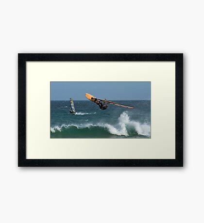 Looking For Davy Jones Locker - Elouera Beach - Sydney - Australia Framed Print