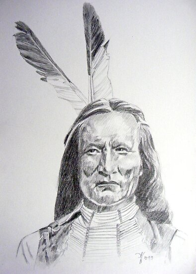 Chief White Eagle by Arie van der Wijst