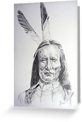 Chief White Eagle by Arie van der Wijst