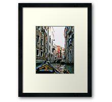 Gondola Ride - Venice  Framed Print