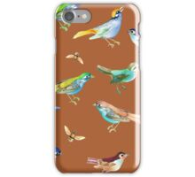 Songbirds & Bees on Desert Orange iPhone Case/Skin