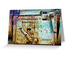 Thomas Shanks & His Tank - Cockatoo Island - Sydney Greeting Card