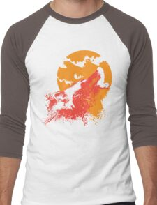 Howling Wolf Men's Baseball ¾ T-Shirt