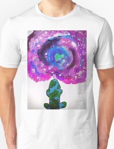 Earth and universe galaxy girl Unisex T-Shirt