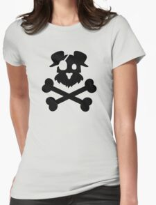 Pirate Pup - Black Womens Fitted T-Shirt