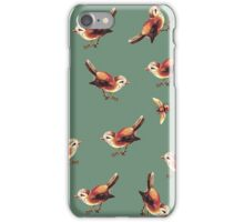 Chestnut Birds and Bee on Sage iPhone Case/Skin