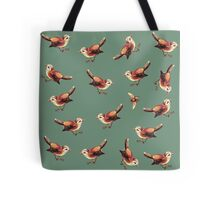 Chestnut Birds and Bee on Sage Tote Bag