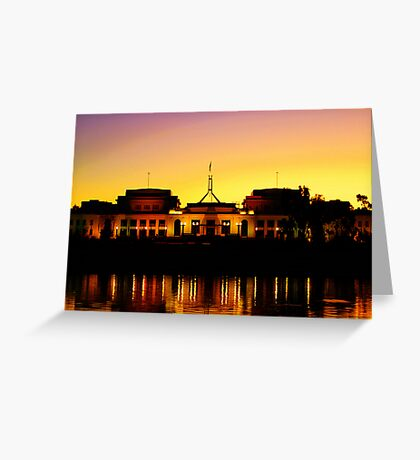 Dusk over Parliament Greeting Card