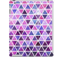 Berry Purples - Triangle Patchwork Pattern iPad Case/Skin