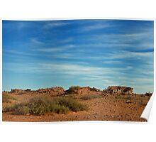 Ruins & Remains of A Long Wall - Farina - South Australia Poster