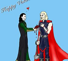 Thor and Loki: Have a Heart (Valentine's Card)  by smirkyt
