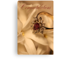Congratulations Canvas Print