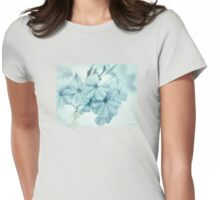 Plumbago is the language that my garden speaks in summer... Womens Fitted T-Shirt