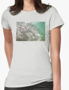 Silver Mint Dandelion Womens Fitted T-Shirt