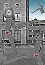 Running Clocks - Buchanan Bus Station Glasgow Scotland by simpsonvisuals