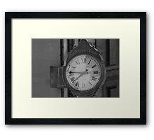 Clock On The Corner Framed Print