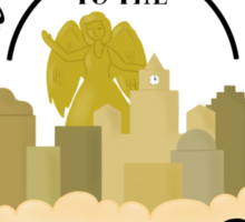 Welcome to the city in the sky!  Sticker