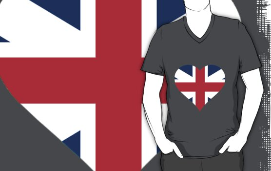 British Flag Heart by parakeetart